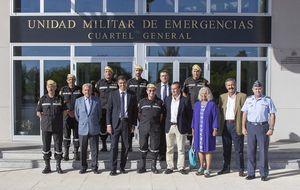 El PSOE utiliza la visita a la UME como escaparate de Pedro Sánchez
