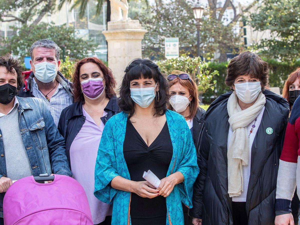 Foto: Teresa Rodríguez, durante el acto de refundación de Adelante Andalucía. (EFE)