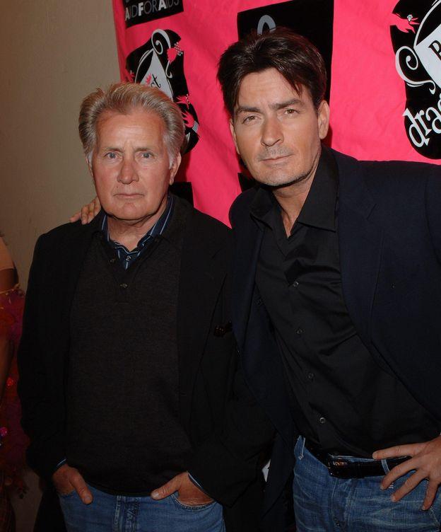 Foto: Martin y Charlie Sheen en una imagen de archivo (Gtres)
