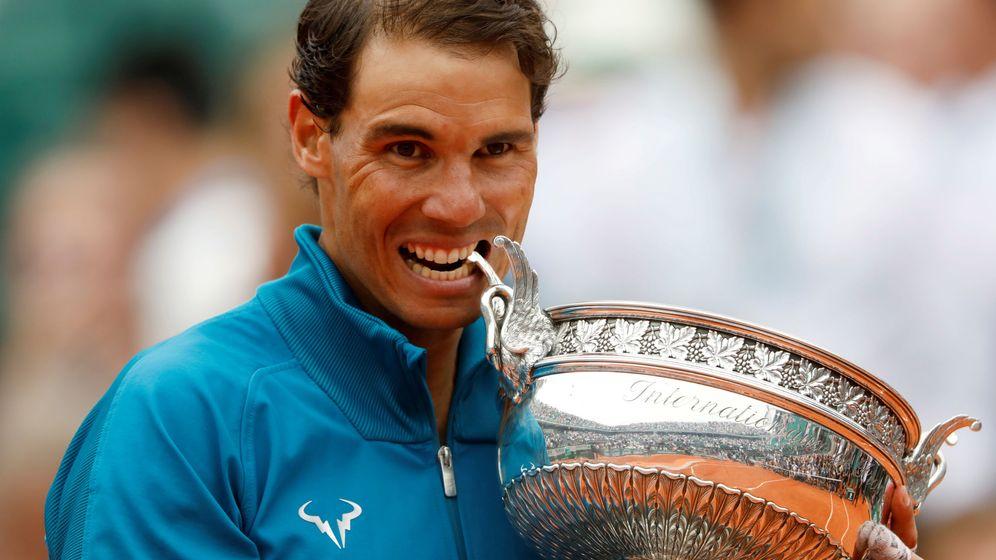 Foto: Rafa Nadal celebra su victoria en Roland Garros en 2018. (Reuters)