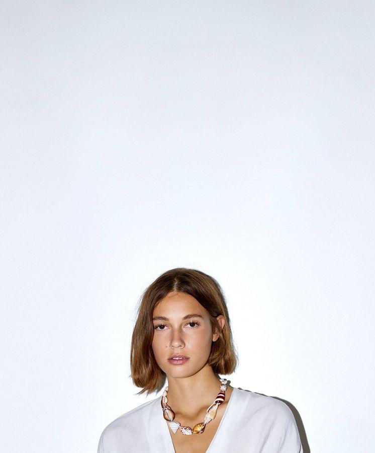 Foto: Blusa con lazada de Zara. (Cortesía)
