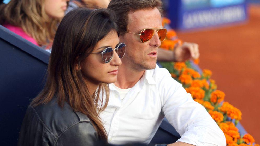 Foto: Sete Gibernau y su ahora mujer, Cristina, en un torneo de tenis en Barcelona.