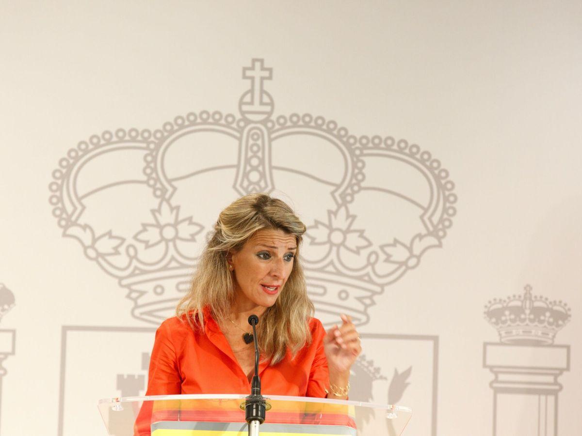 Foto: La vicepresidenta segunda y ministra de Trabajo, Yolanda Díaz. (EFE)