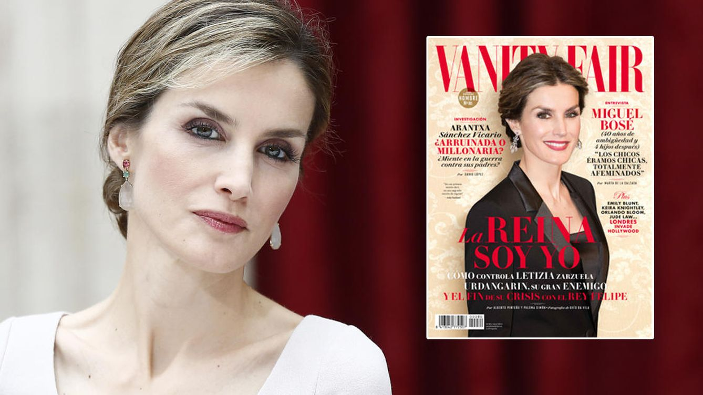 Foto: Doña Letizia, en una imagen de archivo, y la portada de 'Vanity Fair'
