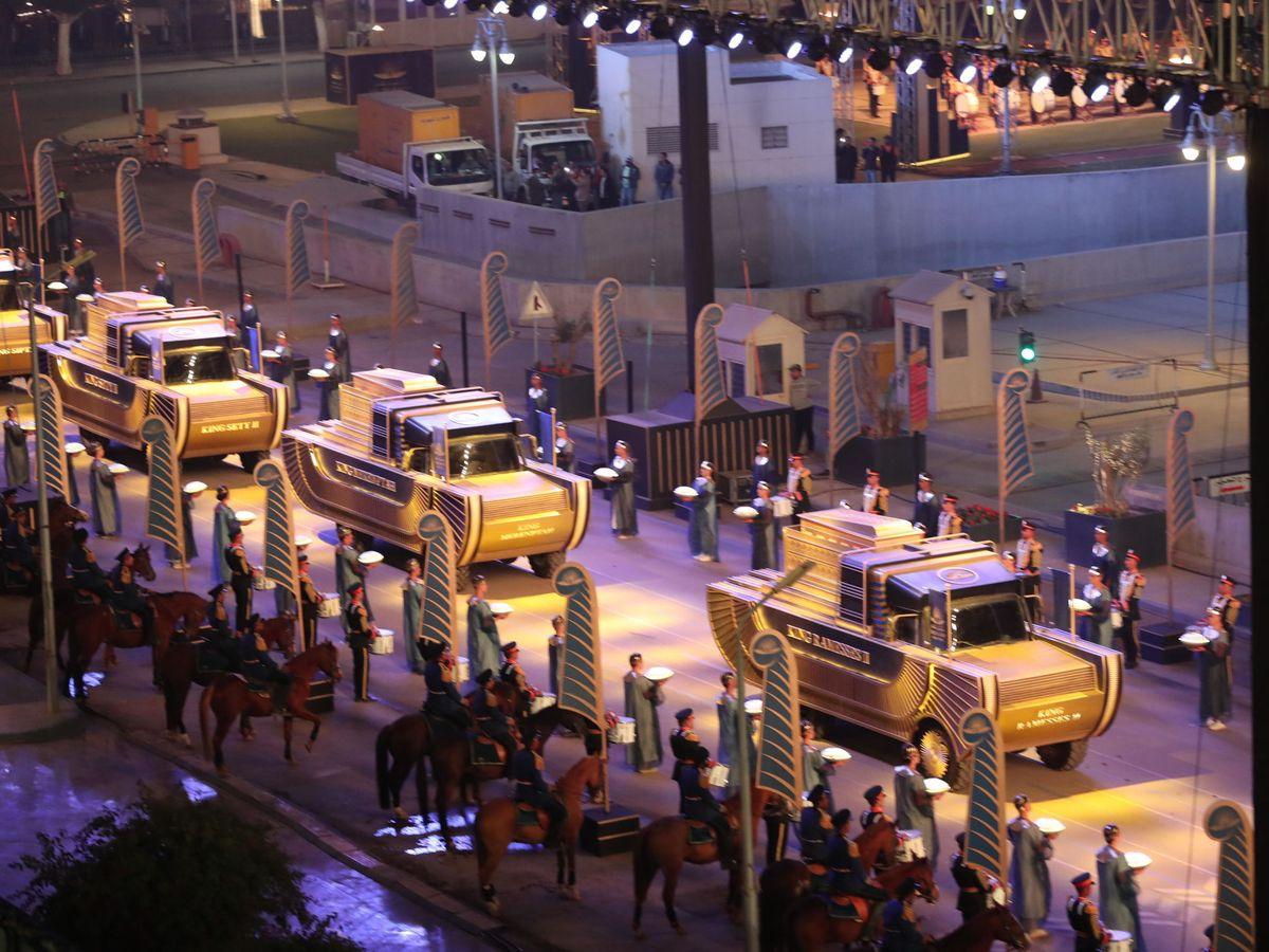 Foto: Desfile de momias en El Cairo, Egipto. (EFE)