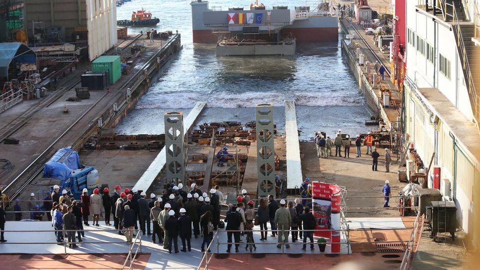 Foto: Factorías Vulcano en el Puerto de Vigo. (Foto: Factorías Vulcano)