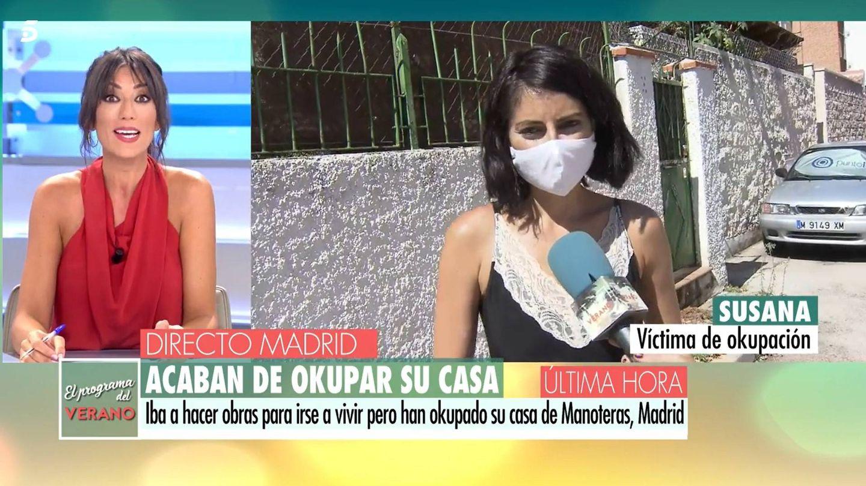 Patricia Pardo, en conexión con Susana Ramos. (Mediaset)