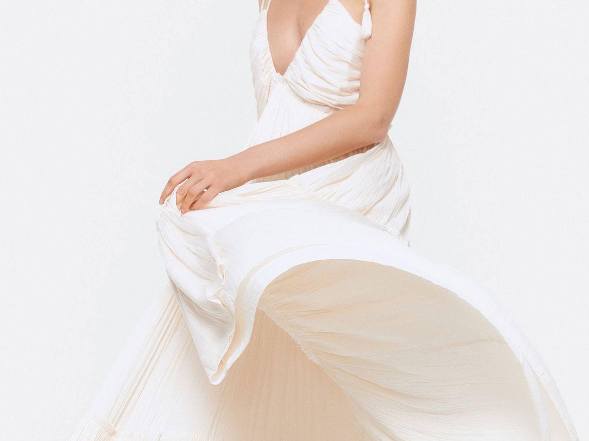 Foto: Vestido de novia de Uterqüe. (Cortesía)