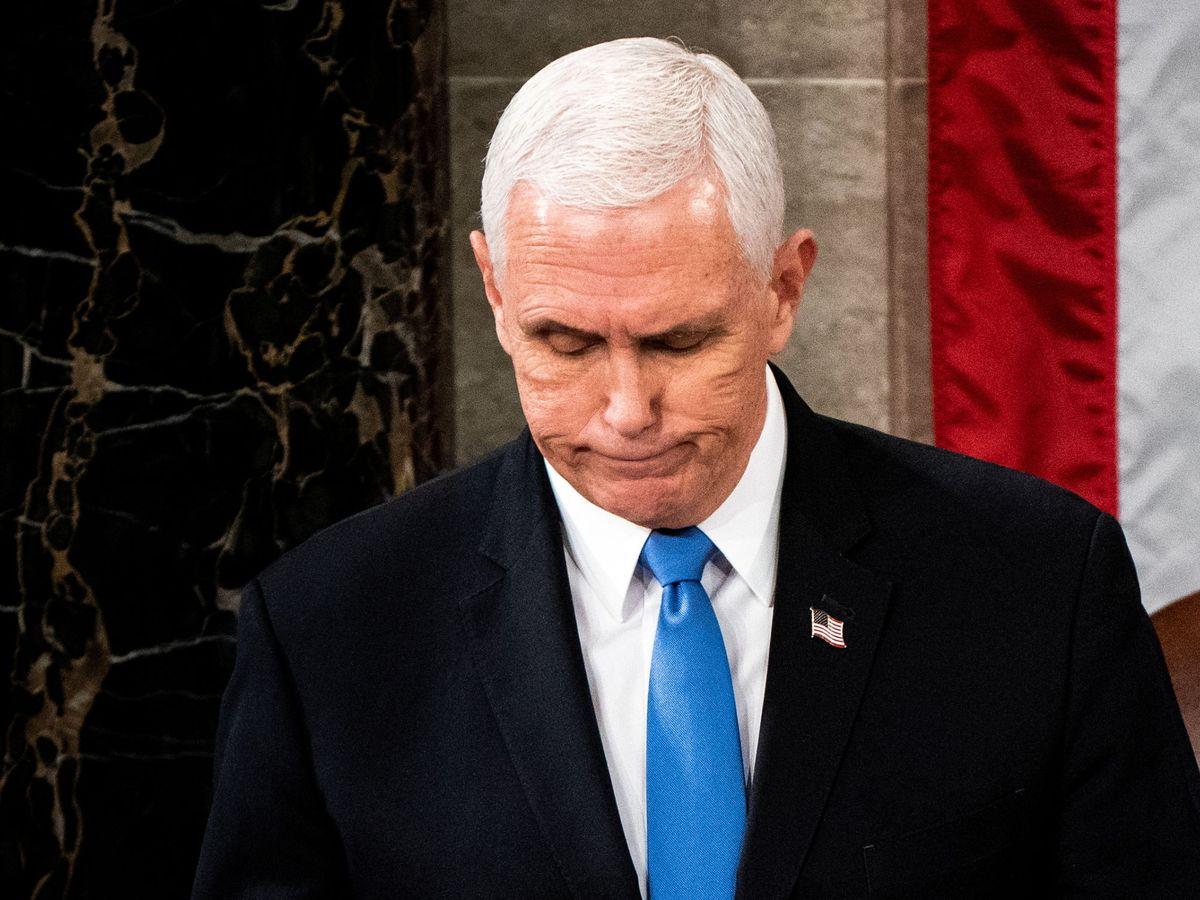 Foto: El vicepresidente estadounidense, Mike Pence, durante la confirmación de la victoria del presidente electo, Joe Biden.