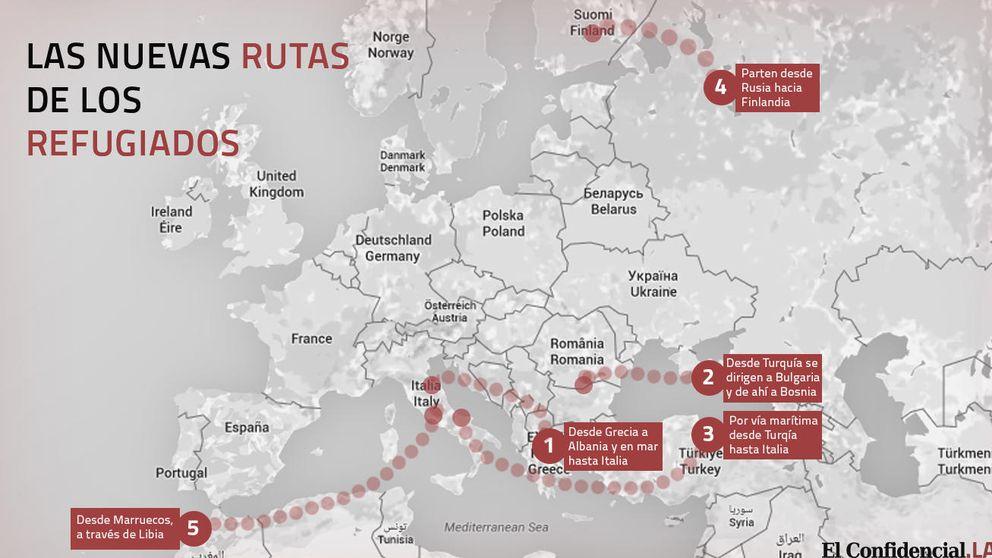 ¿Por dónde entrarán los refugiados? España no puede bajar la guardia