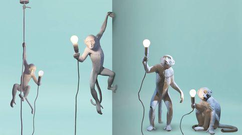 Una lámpara con forma de mono: la compañera de piso perfecta
