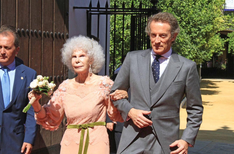 Foto: La duquesa y Alfonso, el día de su boda (Gtres)