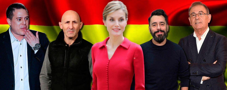 Foto: Doña Letizia junto a algunos de los diseñadores a los que dijo no (Fotomontaje: Vanitatis)
