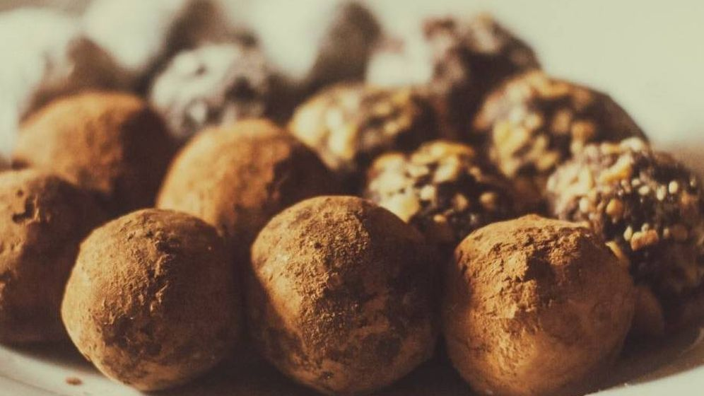 Foto: Trufas de chocolate.