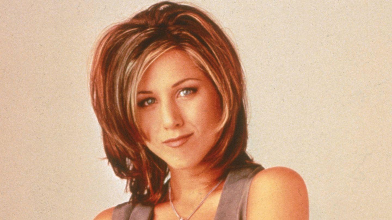 Jennifer Aniston, en una sesión de fotos para 'Friends' en 1995. (Getty)