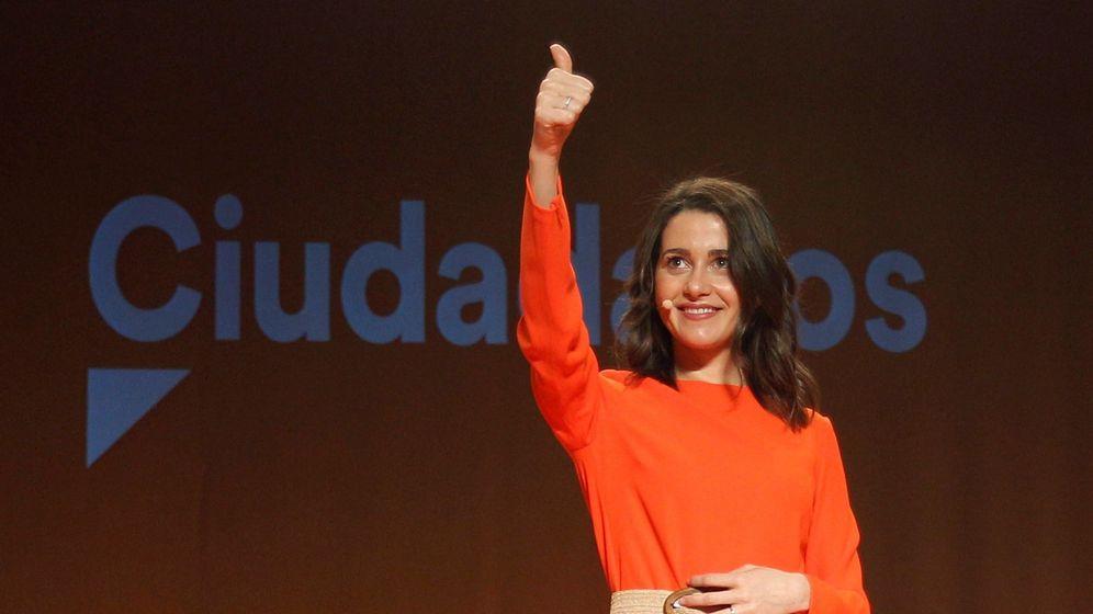 Foto: La cabeza de lista de Ciudadanos por Barcelona en las elecciones del 28A, Inés Arrimadas. (EFE)