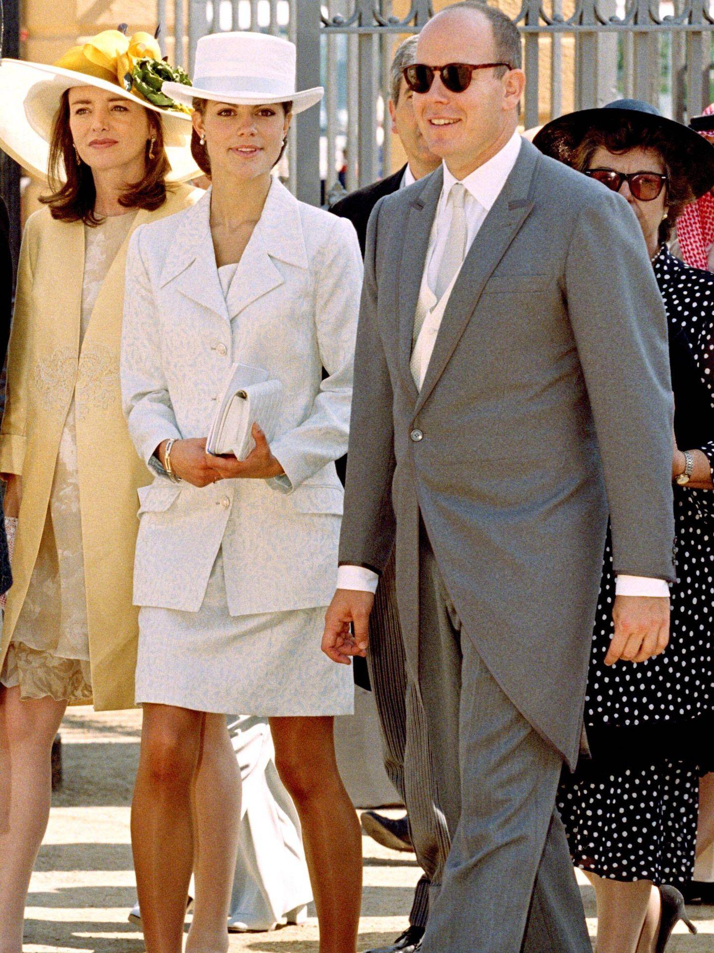 Victoria de Suecia en la boda de la infanta Cristina. (Gtres)