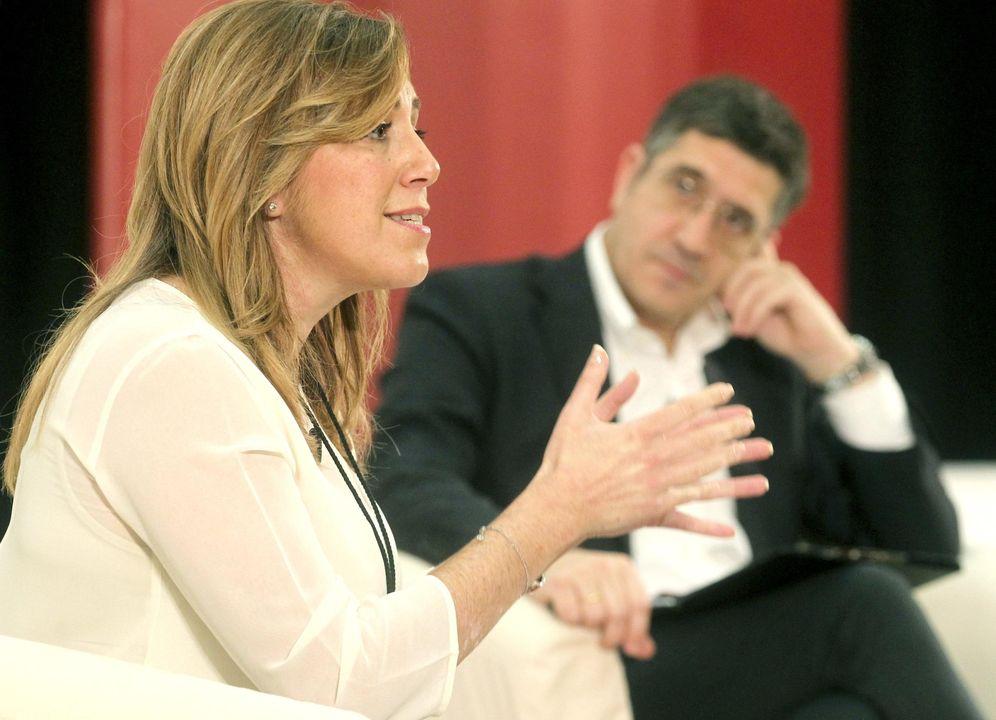 Foto: Susana Díaz y Patxi López, en un acto del PSE en San Sebastián el 25 de enero de 2014.(EFE)