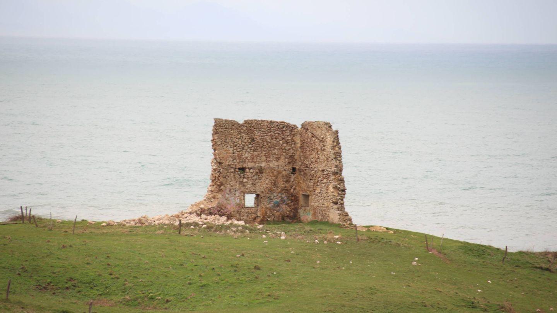 El paredón de la Torre de San Telmo tras el derrumbe. Foto: Hispania Nostra