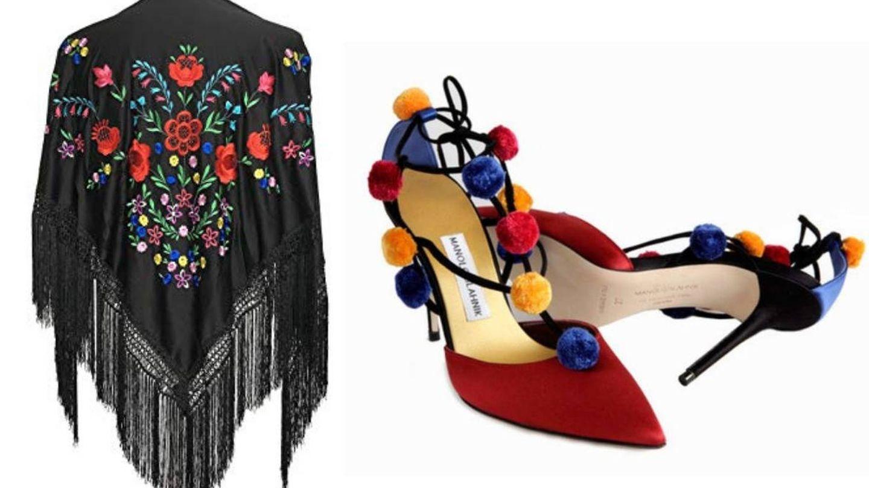 Mantilla y zapatos de la hija de la infanta Elena.