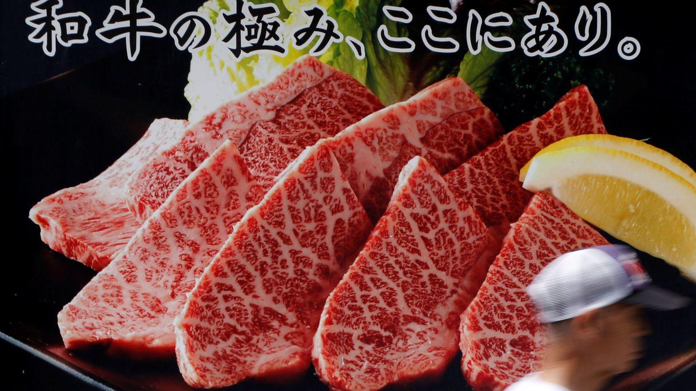 Un anuncio de carne de wagyu, la famosa ternera japonesa. (Reuters)