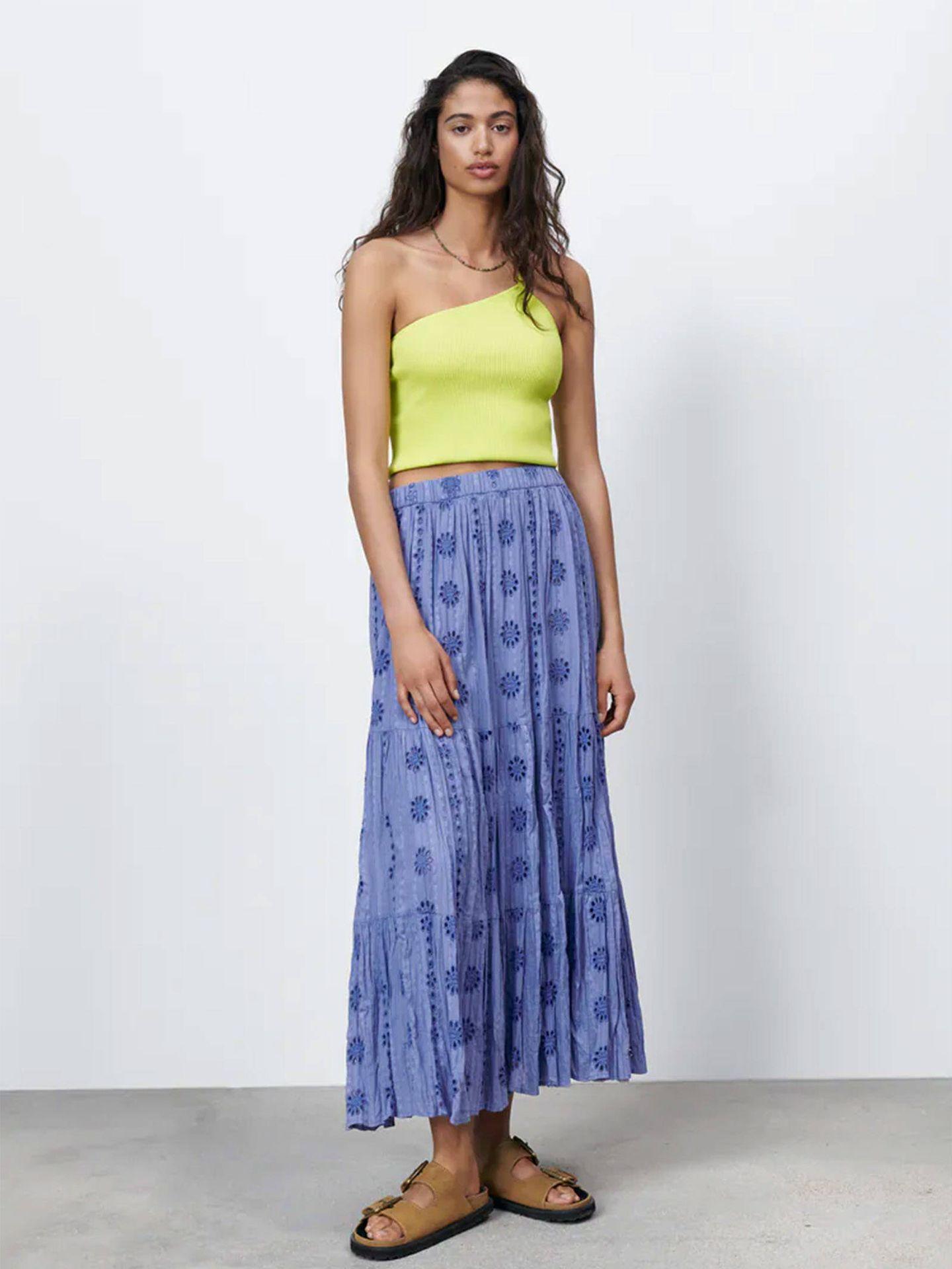 Falda larga de Zara para el verano. (Cortesía)
