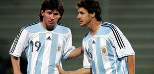 Post de La camiseta de Aimar colgada o el dilema de Messi para no hacerle un feo a su ídolo