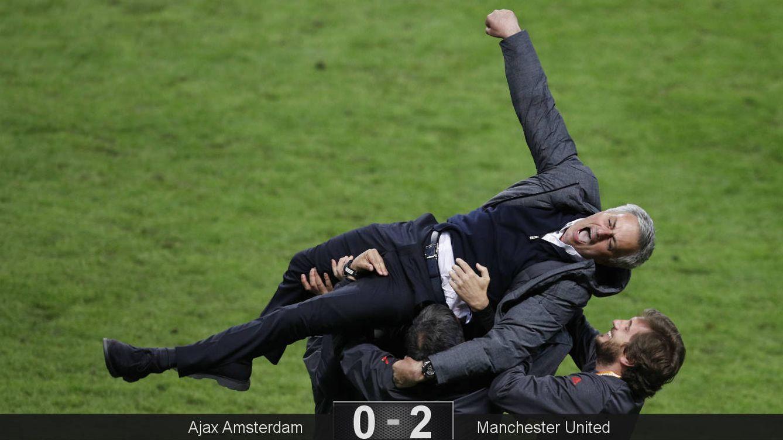 Foto: Mourinho gana su segundo título de Europa League. (Reuters)