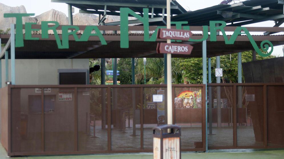 Foto: Entrada del parque Terra Natura de Benidorm, Alicante. (EFE)
