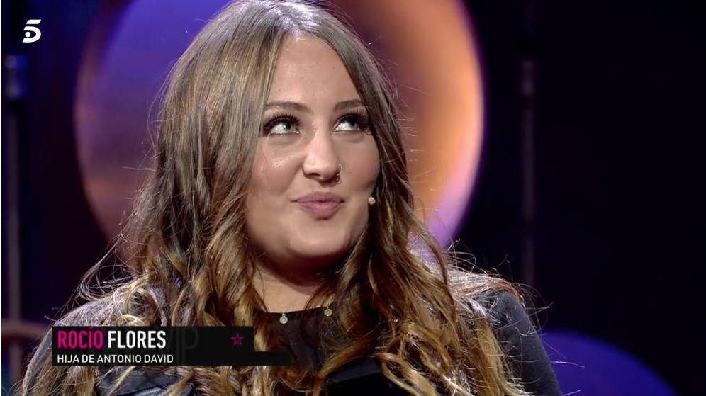 Foto: Rocío Flores, defensora de Antonio David Flores, en 'GH VIP 7'. (Mediaset)