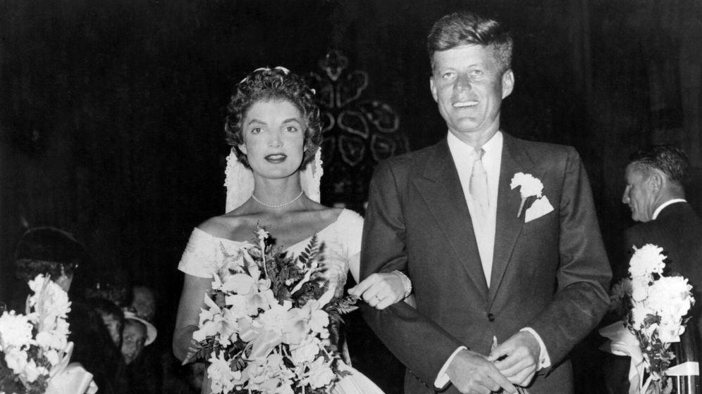 Foto:  Boda de Jackie y John Kennedy. (Getty)
