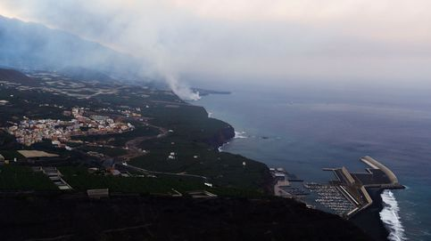 La llegada de la lava al mar en La Palma, grabada desde el buque Ángeles Alvariño