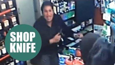Esta mujer consigue espantar a un atracador con un cuchillo