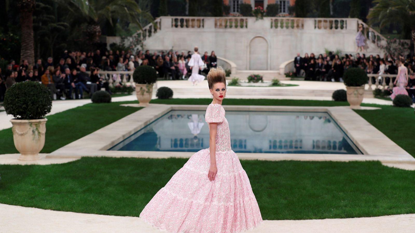 Foto: El desfile de alta costura de Chanel. (EFE)