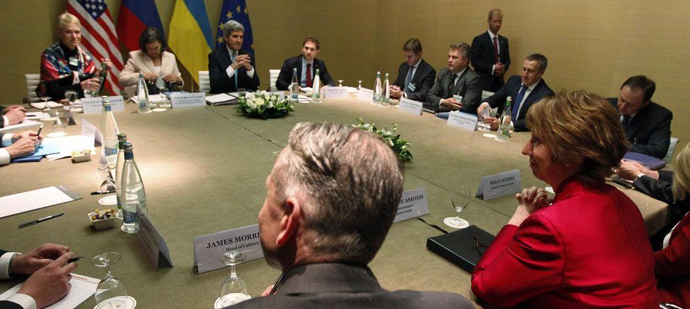 Foto: Reunión a cuatro bandas en Ginebra (Reuters)