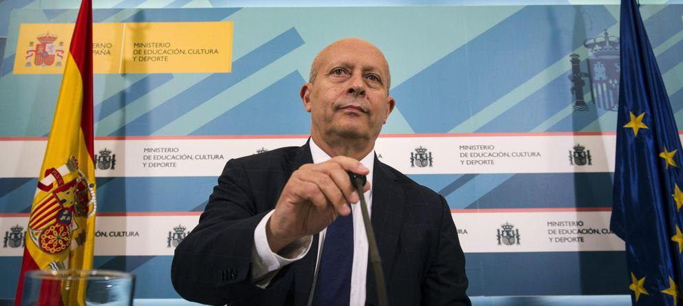Foto: José Ignacio Wert, ministro de Educación, Cultura y Deporte, responsable de la LPI. (EFE)