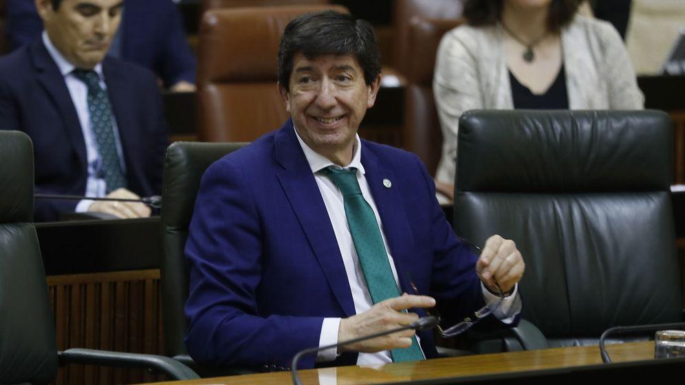 Foto: El vicepresidente de la Junta de Andalucía, Juan Marín. (Efe)
