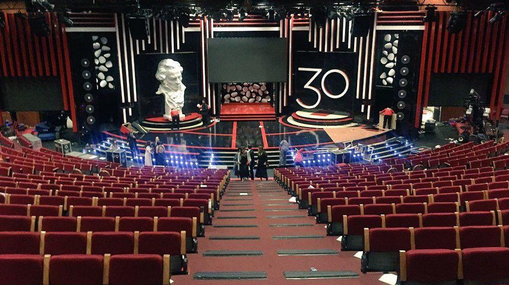 Foto: El auditorio en calma tras terminar la última gala de los Goya en 2016 (P.C.)