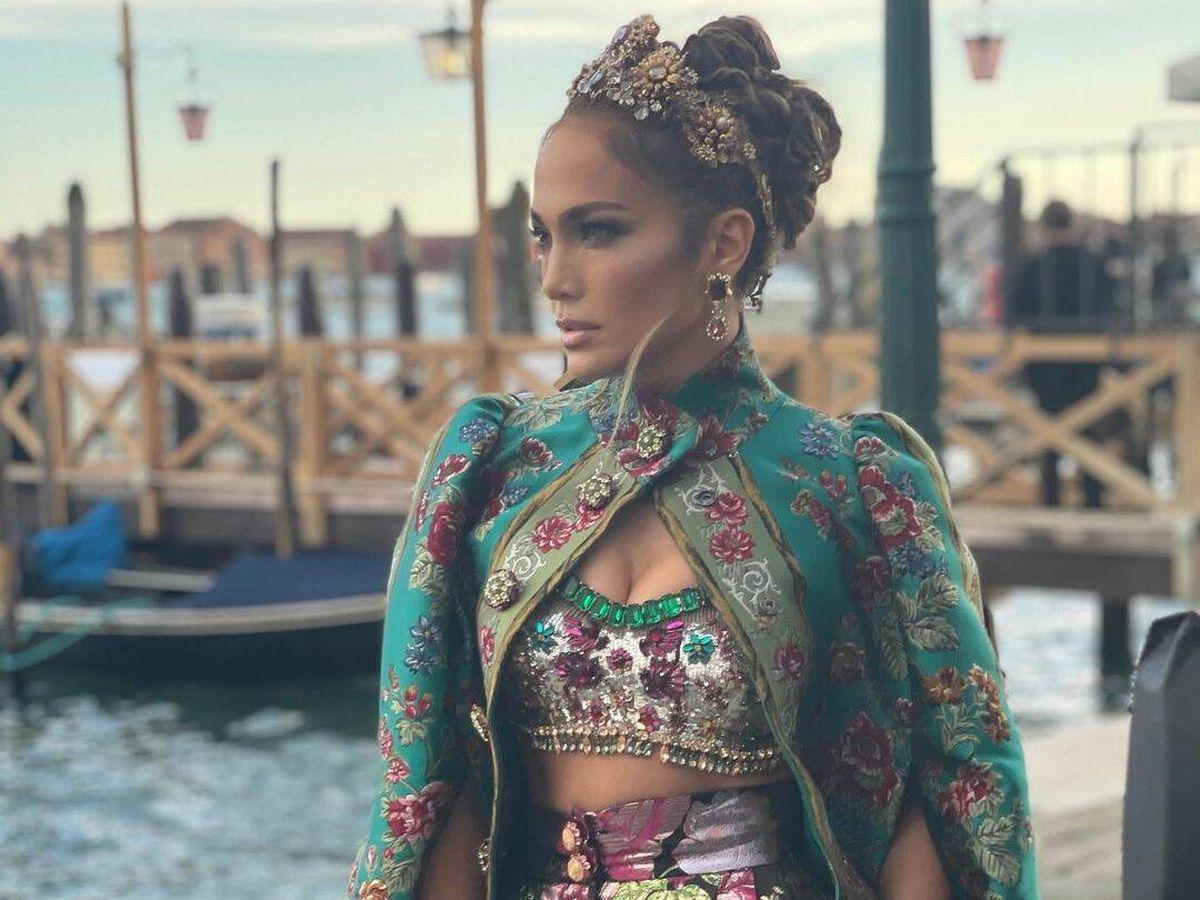 Foto: Jennifer Lopez, llegando a la fiesta de Dolce & Gabbana. (Instagram)