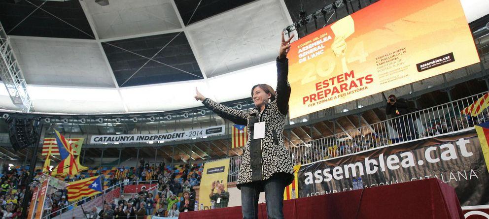 Foto:  La presidenta de la Asamblea Nacional Catalana (ANC), Carme Forcadell durante el acto político. (Efe)