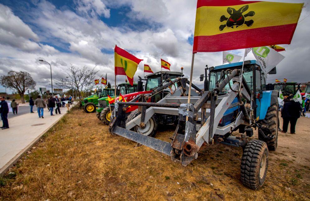 Foto: Tractorada y posterior manifestación para reivindicar medidas en defensa del campo.