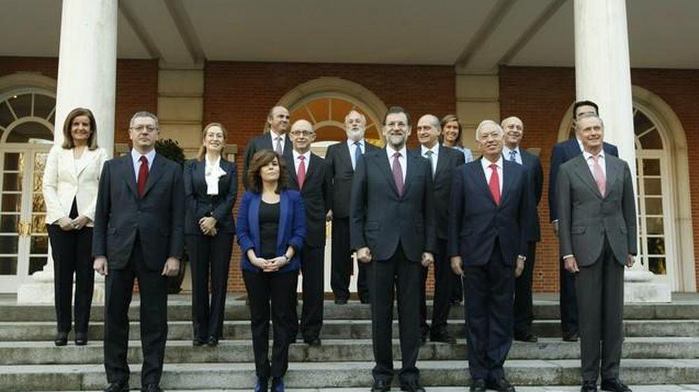 Foto: Mariano Rajoy en su primera reunión del Consejo de Ministros. (Efe)