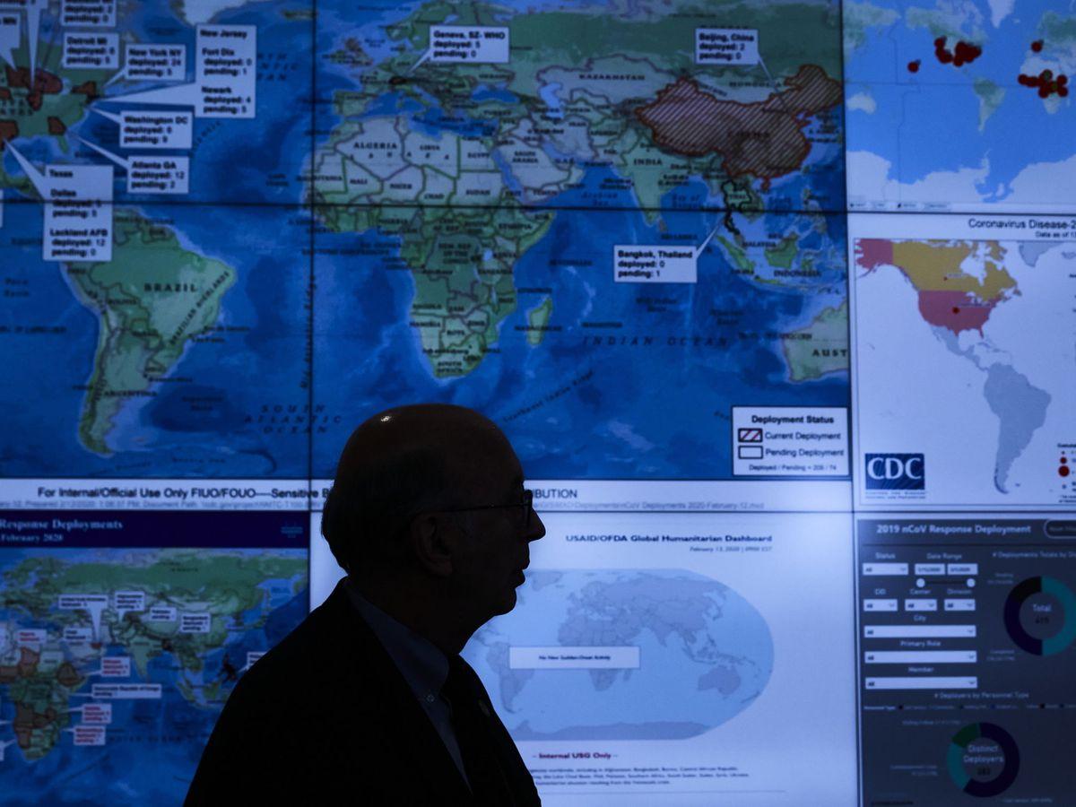 Foto: El centro de operaciones de emergencia en EEUU. (EFE)