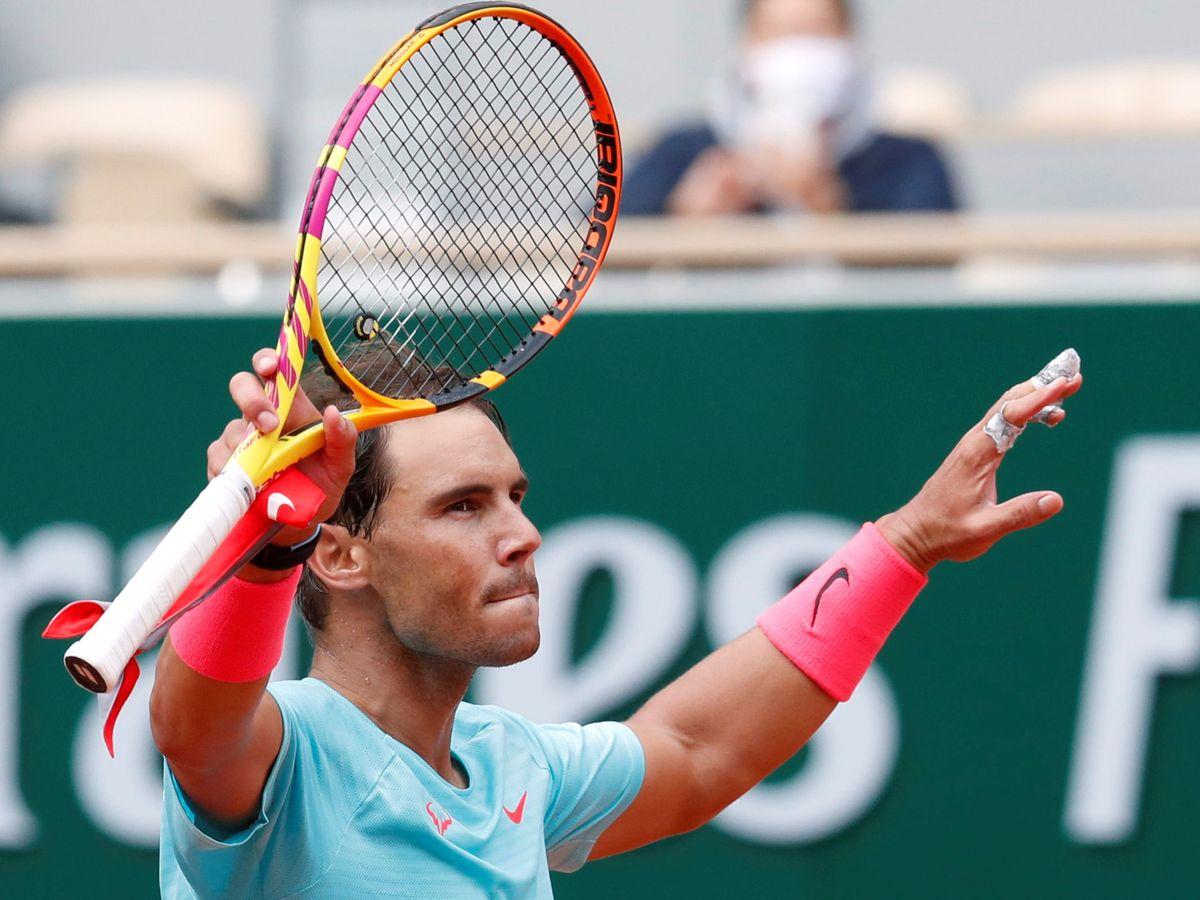 Foto: Nadal celebra su victoria en segunda ronda. (Reuters)