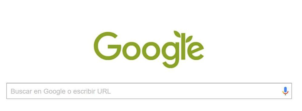 Foto: Google 'tiñe' sus letras de verde por el Día Mundial del Medio Ambiente