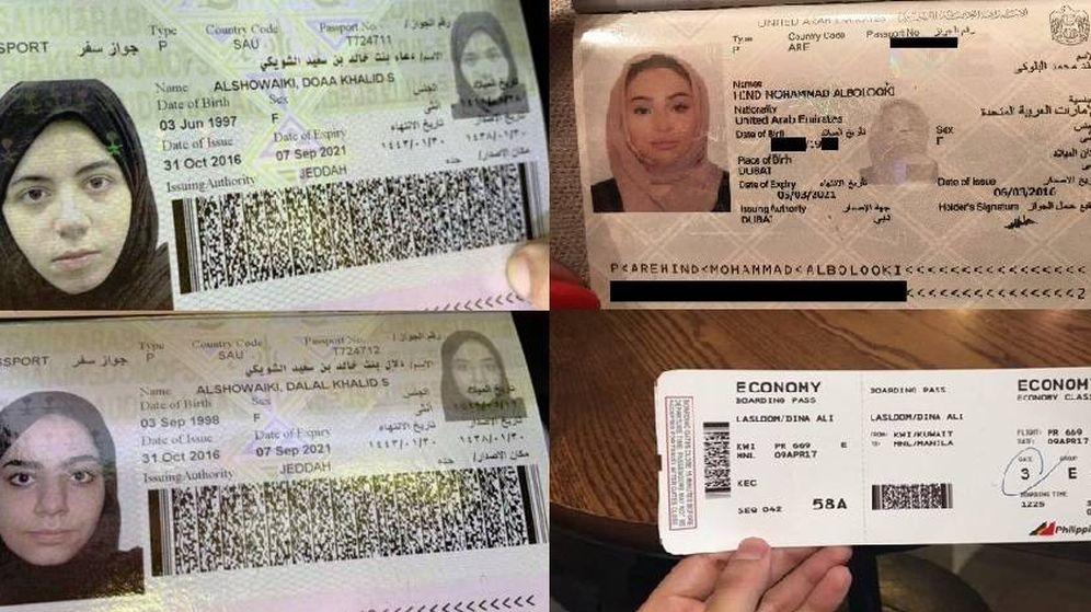 Foto: Algunas chicas publican sus documentos para solicitar asilo