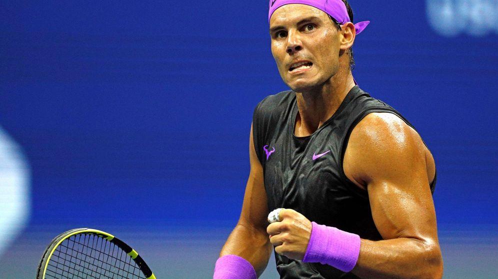 Foto: Rafa Nadal celebra un punto en el US Open. (EFE)