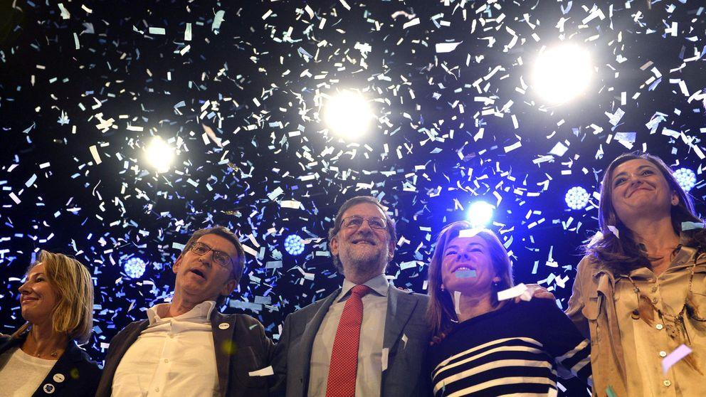 Rajoy, muy contento con los resultados del PP en Galicia y País Vasco