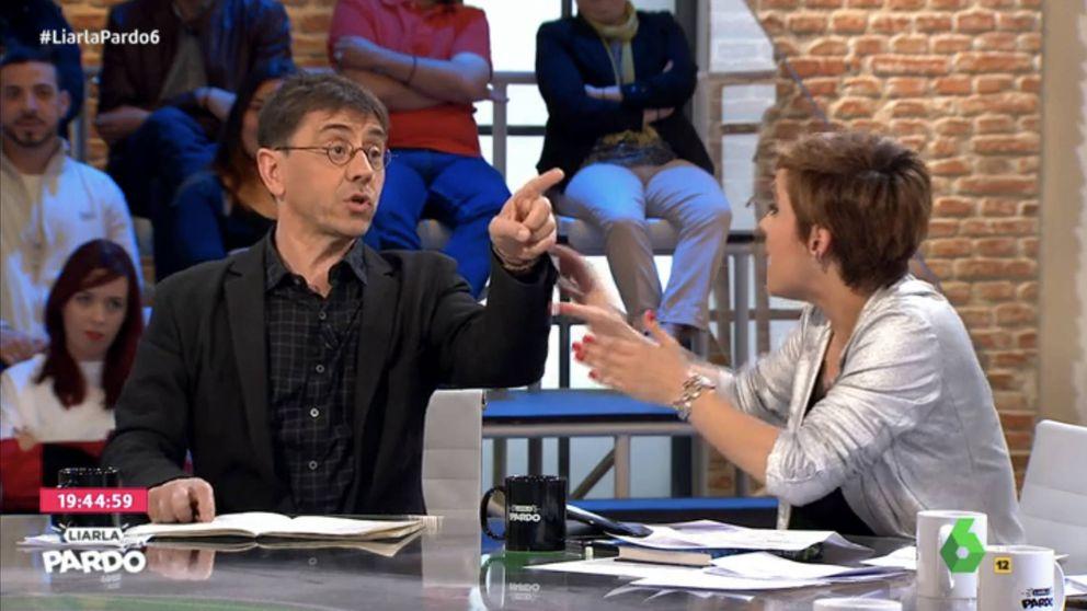El encontronazo entre Monedero y una espectadora de Cristina Pardo