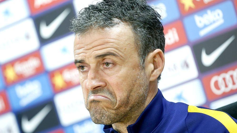 Foto: El entrenador del Barcelona, Luis Enrique Martínez, en rueda de prensa (Efe).